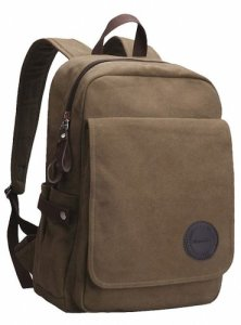 Zebella Vintage Canvas Laptop Backpack