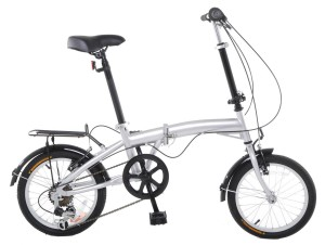 APEX 16 Folding Bike Shimano 6 Speed - Rack & Fenders
