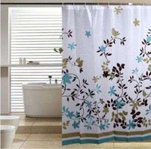 Blu-Pier Decorative PEVA Shower Curtain