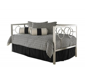 Fashion Bed Group Astoria Champagne Metal Daybed with Link Spring