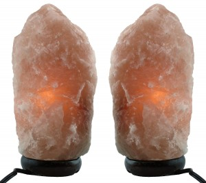 Himalayan Natural Salt Lamp- TWO Pack- Multiple Sizes (6-8 inch)