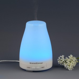 InnoGear® 100ml Aromatherapy Essential Oil Diffuser Portable Ultrasonic Cool Mist Aroma Humidifier With Color LED Lights Changing and Waterless Auto Sh