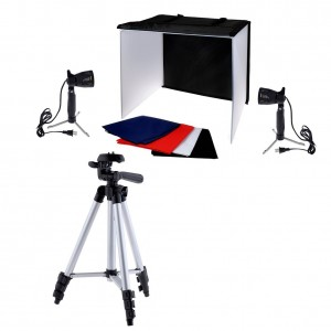Neewer® Photography Photo Studio Lighting Kit Set, Includes (1) 24x24 Light Shooting Tent Box, (2) 5000K 50W High Output Table Top Accent Li