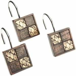 Popular Bath Zambia Shower Curtain Hooks, Set of 12