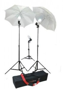STUDIOHUT SH-FLHK4531 Three Light Continuous Lighting Kit for VideoDigitalPortrait Photography with Carry Bag (Black)