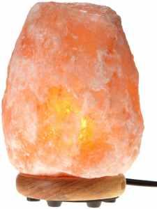WBM Himalayan Light #1002 Natural Air Purifying Himalayan Salt Lamp with Neem Wood Base, Bulb and Dimmer switch