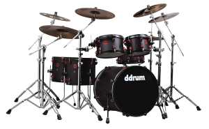ddrum HYBRID 6 BLK RED Hybrid Kit 6-Piece AcousticTrigger Drum Kit, BlackRed