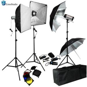 limoStudio 750W (250W x 3) Professional Photography Studio Flash Strobe Light Lighting Kit Equipment Set, AGG404