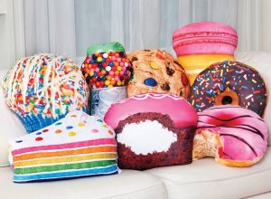 iscream  Yummy Treats Scented Rainbow Cupcake Microbead Pillow