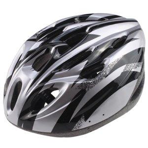 AGPtek Adult Bicycle Helmet, BlackSilver, L