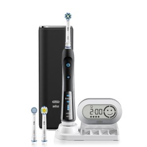 BLACK 7000 SmartSeries with Bluetooth Electric Rechargeable Power Toothbrush Powered by Braun