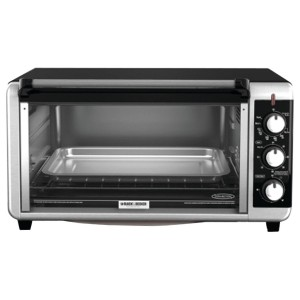 Black & Decker TO3250XSB 8-Slice Extra Wide Toaster Oven, BlackSilver