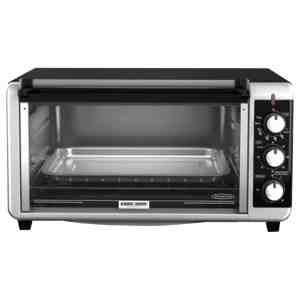 Black & Decker TO3250XSB 8-Slice Extra Wide Toaster Oven, BlackSilver