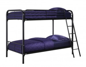 DHP Twin Over Twin, Metal Bunk Bed - Black