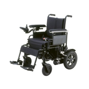 Drive Medical Cirrus Plus Folding Power Wheelchair with Footrest and Batteries, Black, 16