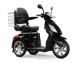 E-Wheels EW-36 High Power Fast 3 Wheel Mobility Scooter (Black)