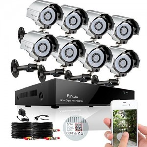Funlux Waterproof 8 Channel 960H HDMI DVR Home Security Camera System