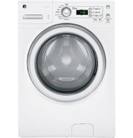 GE GFWH1200HWW 3.6 Cu. Ft. White Stackable Front Load Washer - Energy Star