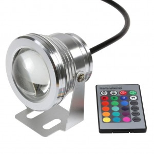 Lemonbest Remote Control 10w 12v Water resistant RGB LED Underwater Light Lamp for Landscape Fountain Pond Lighting