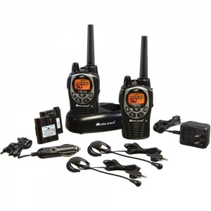 Midland GXT1000VP4 36-Mile 50-Channel FRSGMRS Two-Way Radio (Pair) (BlackSilver)