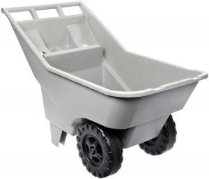 Rubbermaid Commercial FG370712907 3.25-Cubic Foot Roughneck Lawn Cart Pallet, Platinum
