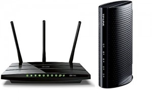 TP-LINK Archer C7 AC1750 Dual Band Wireless AC Gigabit Router and TP-LINK DOCSIS 3.0 Cable Modem