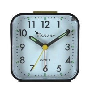 Travelwey Travel Alarm Clock - No Ticking, Big Digits, Snooze, Ascending Alarm, Backlight, Luminous Hands - Very Simple To Use - Ideal For