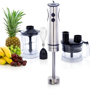 VREMI 3-in-1 Pro Hand Blender - 12-Speed Food Processor, Immersion Blender, and Mixer in One Device (400 Watt)