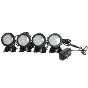 Vktech 36-LED Submersible Light for Water Gardens and Ponds, Set of 4