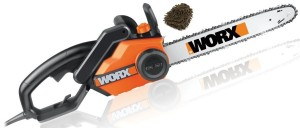 WG303.1 14.5 Amp 16 In. Electric Chain Saw Worx, 16-inch 3.5 HP (Complete Set) w Gift Premium Microfiber Cleaner