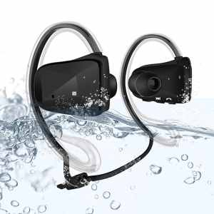 Waterproof Wireless Sport Headset Headphone Earpiece , Bluetooth 4.0 Support APTX NFC Music Stereo In-ear Earbuds Earphone , Dual Microphone , Su