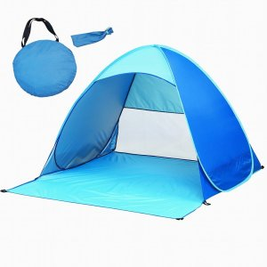 iCorer@ Automatic Pop Up Instant Portable Outdoors Quick Cabana Beach Tent Sun Shelter, Blue