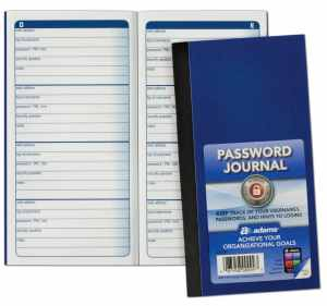 Adams Password Journal, 6.25 x 3.25 Inches (APJ99)
