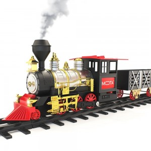 Christmas Santa Holiday Classic Train with Sound, Light, and Real Smoke by MOTA