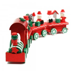 EDW Christmas Wood Train Tree Ornament Decoration Gift Toys for kids (1PCS train)