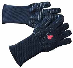 Extreme Heat BBQ Grill Gloves for Baking, Grilling, & Oven Use - Protection Up To 932°, 14 Long, 2 Gloves