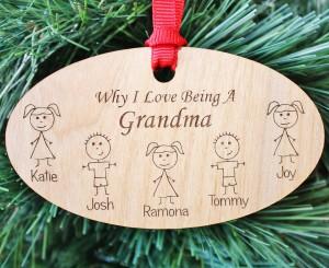 Grandparent Christmas Ornament, Grandma Gift, Grandparent Gift, Grandpa Gift, Personalized Grandma Ornament, Christmas, ORN03