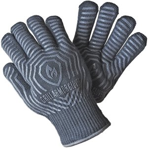 Grill Armor 932°F Extreme Heat Resistant Oven Gloves - EN407 Certified BBQ Gloves For Cooking, Grilling, Baking