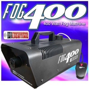 Heavy Duty 400 Watt Fog Machine WRemote - Impressive 2,000 Cubic ft. per minute