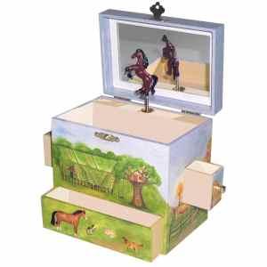 Horse Ranch Music Box