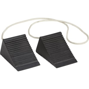 Ironton 2-Pk. of Compact Wheel Chocks - Solid Rubber