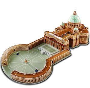 New Saint St Peters Basilica 3D Puzzle Christian Architecture Building Mode