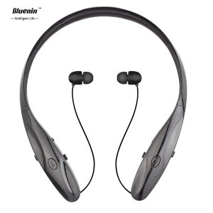 Sports Wireless Headset, Bluenin HBS-950 Bluetooth V4.0 Neckband Headphone for Iphone 6s, 6 Plus, 6, 5s 5c 5 4s, Samsung, Sony, Htc, Lg, Smartphone and Other Bluetooth Enabled Device (950 Black)