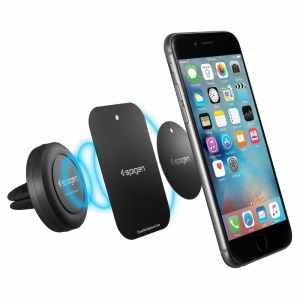 Car Mount, Spigen® [Air Vent Magnetic] Car Mount Holder [Quad Neodymium Core] Car Mount Phone Holder for Nexus 5x Nexus 6P iPhone 6s 6 6s Plus 6 Plus, Galaxy Note 5 S6 Edge Plus and More - B