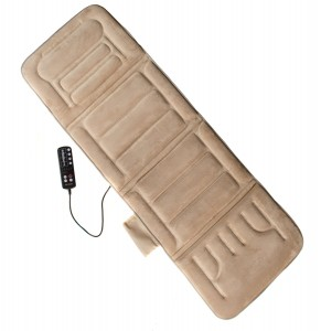 Comfort Products 60-2907P08 10-Motor Massage Plush Mat with Heat, Beige