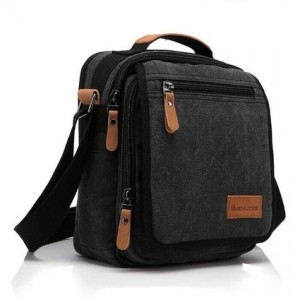 Ibagbar Durable Multifunction Canvas Shoulder Bag Business Messenger Bag Ipad Bag Tote Bag Satchel Bag for Men and Women