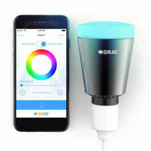 SunLabz® Bluetooth Smart Light - Smartphone-Controlled, Color-Changing, Dimmable LED Bulb that works with iPhone & Android Devices (Black)