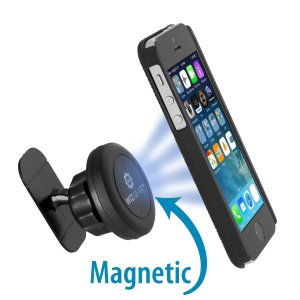 WizGear Universal Stick On Dashboard Magnetic Car Mount Holder for Cell Phones and Mini Tablets with Fast Swift-snap Technology