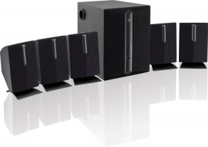 iLive HT050B 5.1 Channel Home Theater Speaker System (Black,6)