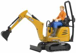 Bruder Jcb Micro Excavator 8010 Cts and Construction Worker (Colors May Vary)